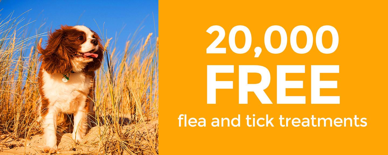 20,000 free flea and tick treatments