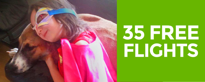 35 free flights