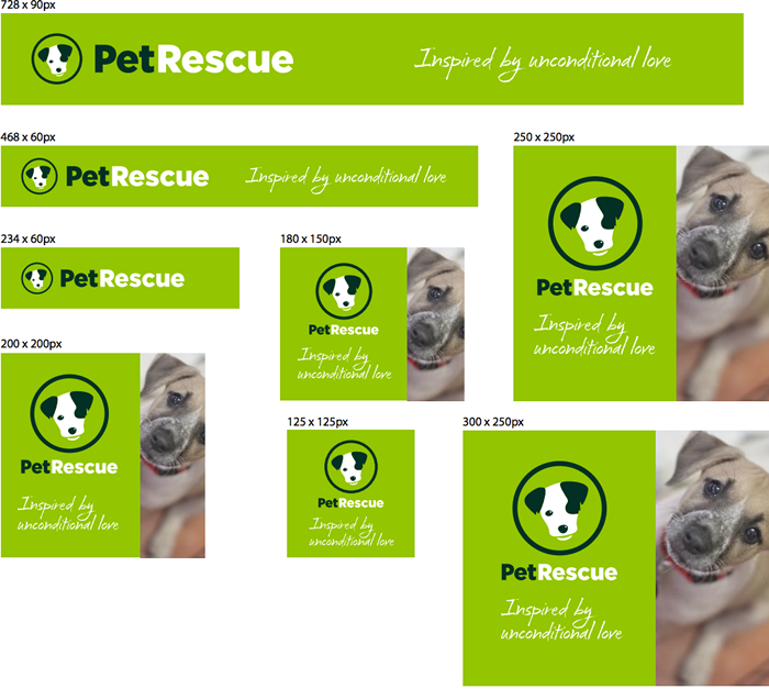 PetRescue Banner Ad Examples
